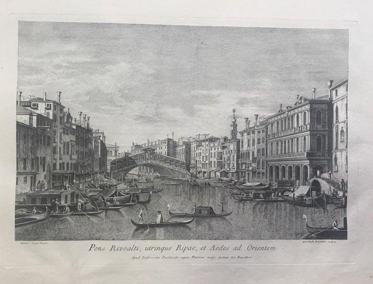 Giovanni Battista Brustolon Figurative Print - Prospectuum Aedium Viarumque Insignorum Ubis Venetiarum -by G.B. Brustolon- 1763