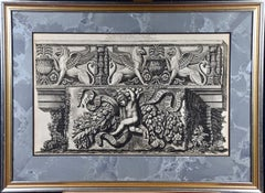 18th C. Piranesi Etching of an Ancient Roman Architectural Frieze