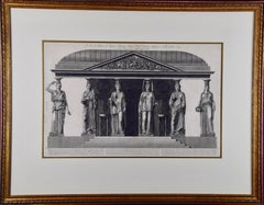 """A sua Eccellenza"" Piranesi Etching of Ancient Roman Architectural Objects"
