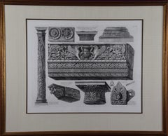 Piranesi Etching of Ancient Roman Architectural Objects, 18th Century