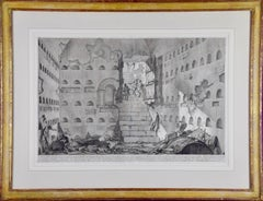 Piranesi Etching of Ancient Roman Architecture, 18th Century