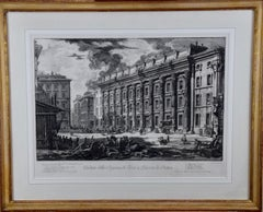 18th Century Etching of Ancient Roman Architecture by Giovanni Piranesi