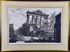 Piranesi Etching of the Architecture of the Ancient Roman Forum, 18th Century