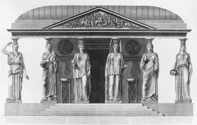 Group of Caryatids, 1778, by Giovanni Battista Piranesi, offered by Wallector