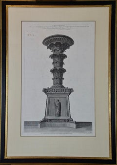 Altro Candelabro Antico Piranesi Etching of Ancient Roman Architectural Objects
