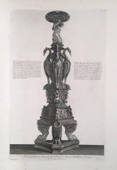 Antique Marble Tripod Candelabra from Piranesi's Museum