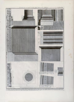 Architectural Elements of the Interior of the Pantheon in Rome