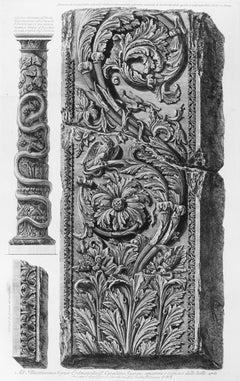 Avanzo di un Pilastro con vari intrecci d'Ornamenti - Etching - 1778
