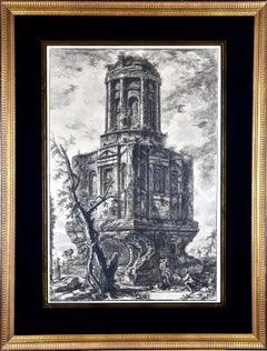 """Avanzi di un Antico Sepulc'ro"" Piranesi Etching of Ancient Roman Architecture"
