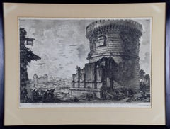 Giovanni Piranesi Etching of Ancient Roman Architecture, 18th Century