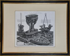 """Magnifico Altare"" Piranesi Etching of Ancient Roman Architectural Objects"