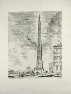 Obelisco Egizio (Egyptian Obelisk) - Etching by G. B. Piranesi