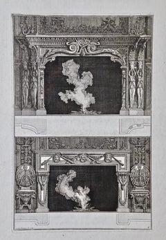 Piranesi Architectural Views of Roman Fireplace Designs, 18th Century