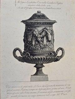 "Piranesi Etching of Ancient Roman Marble Vase, ""Vaso Cinerario di Gran Mole"""