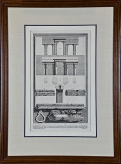 "Piranesi Etching of Hadrian's Ancient Roman Aqueduct and Baths, ""Aquae Virginis"""