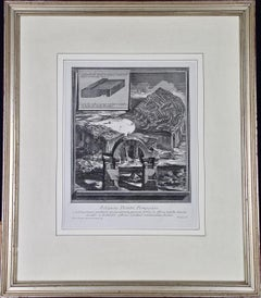 "Piranesi Etching ""Reliquiae Theartri Pompejani"" of an Ancient Roman Theater"