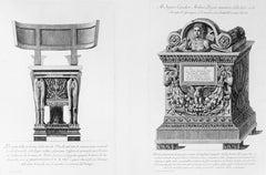 Prospetto della medesima sedia Curule... - Etching 1778