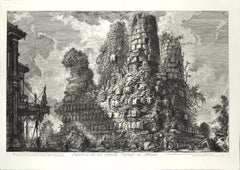 Sepolcro dè tre fratelli Curazj in Albano - Etching by G. B. Piranesi