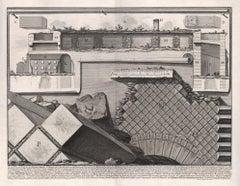 Spaccato del Mauseleo di Ottaviano Augusto, Piranesi Roman etching, 1800