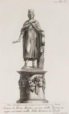 Statue of Vesta in Villa Estense in Tivoli