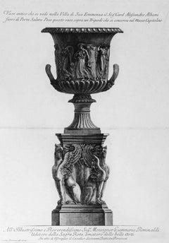 Vaso antico che si vede nella Villa di Sua Eminenza Card. Alessandro Albani