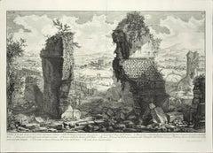 Veduta degli Avanzi sopra terra dell'antico Ustrino - Etching by G. B. Piranesi