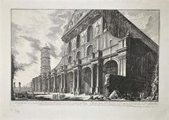 Veduta della Basilica di S. Paolo Fuor delle Mura - Original Etching