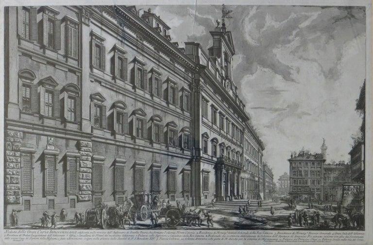 Veduta Della Gran Curia Innocenziana from Vedute di Roma, 1752 - Realist Print by Giovanni Battista Piranesi
