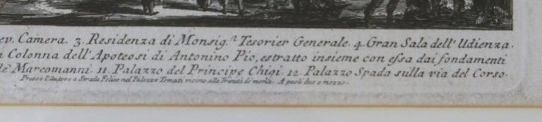 Veduta Della Gran Curia Innocenziana from Vedute di Roma, 1752 For Sale 1