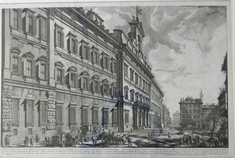 Giovanni Battista Piranesi Print - Veduta Della Gran Curia Innocenziana from Vedute di Roma, 1752