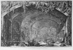 Veduta della Spelonca, detta il Bergantino - Etching by G. B. Piranesi - 1762
