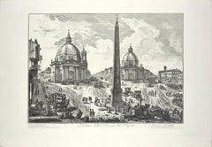Veduta di Piazza del Popolo - Etching by G. B. Piranesi