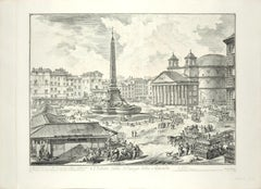Veduta di Piazza della Rotonda - Etching by G. B. Piranesi
