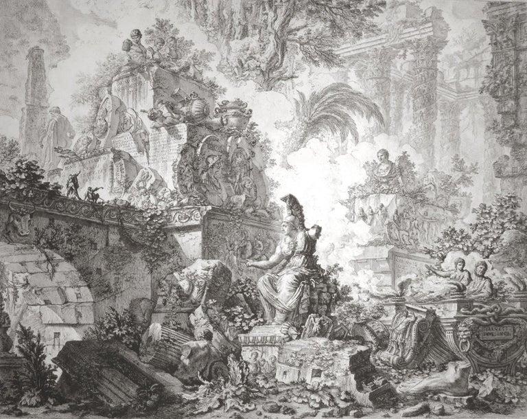 Giovanni Battista Piranesi Landscape Print - Vedute di Roma (3rd State)