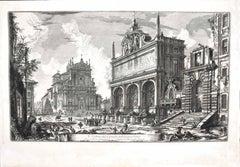 View of Castello dell'Acqua Felice - Etching by G. B. Piranesi - 1751