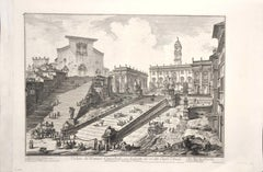 View of the Capitoline Hill  - Etching by G. B. Piranesi - 1775