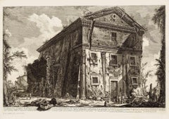 View of the Temple of Bacchus - Original Etching by Piranesi - 1758