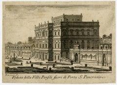 Villa Panfili in Rome by Giovanni Battista Piranesi - Etching - 18th Century