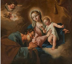 Giovanni Battista Pittoni, Holy Family with Cupids, Venetian Baroque Painting