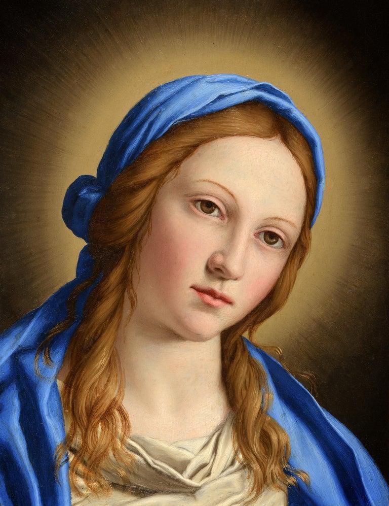 Portrait of Madonna - Painting by Giovanni Battista Salvi da Sassoferrato