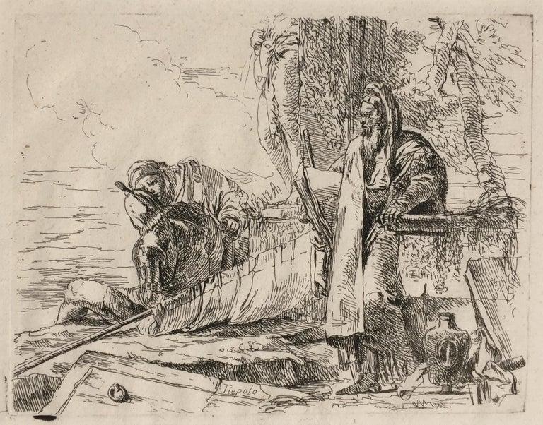 THE STANDING PHILOSOPHER - Print by Giovanni Battista Tiepolo