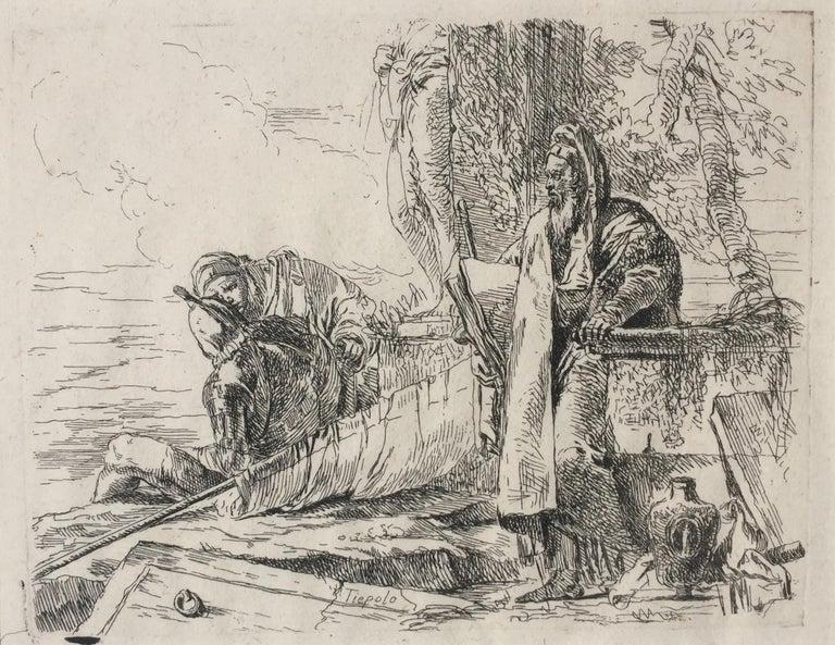 Giovanni Battista Tiepolo Figurative Print - THE STANDING PHILOSOPHER
