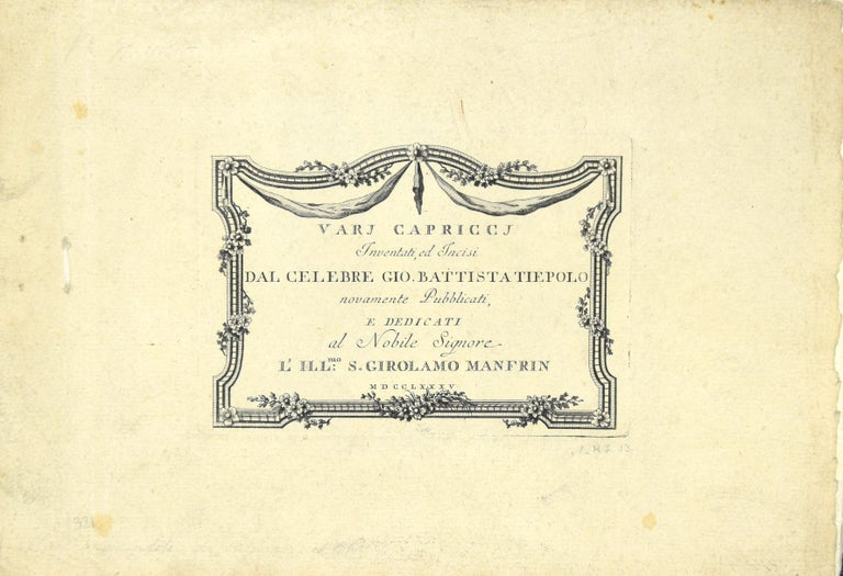 Varj Capriccj - Rare Complete Collection of Etchings by G.B. Tiepolo - 1785 For Sale 5