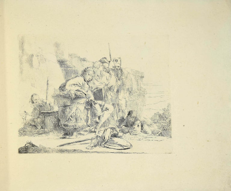 Varj Capriccj - Rare Complete Collection of Etchings by G.B. Tiepolo - 1785 - Print by Giovanni Battista Tiepolo