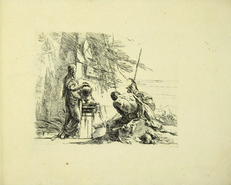 Varj Capriccj - Rare Complete Collection of Etchings by G.B. Tiepolo - 1785 - Old Masters Print by Giovanni Battista Tiepolo