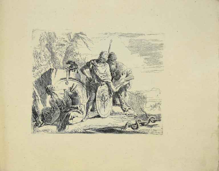 Varj Capriccj - Rare Complete Collection of Etchings by G.B. Tiepolo - 1785 - White Figurative Print by Giovanni Battista Tiepolo
