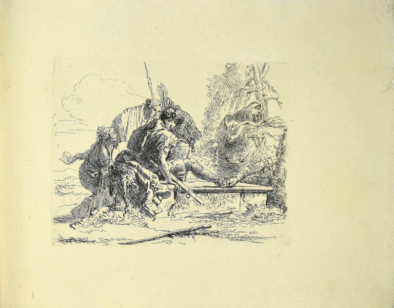 Varj Capriccj - Rare Complete Collection of Etchings by G.B. Tiepolo - 1785 For Sale 2