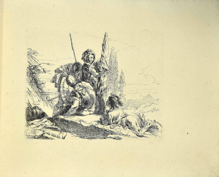 Varj Capriccj - Rare Complete Collection of Etchings by G.B. Tiepolo - 1785 For Sale 3