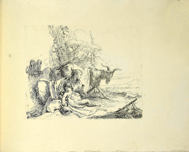 Varj Capriccj - Rare Complete Collection of Etchings by G.B. Tiepolo - 1785 For Sale 4