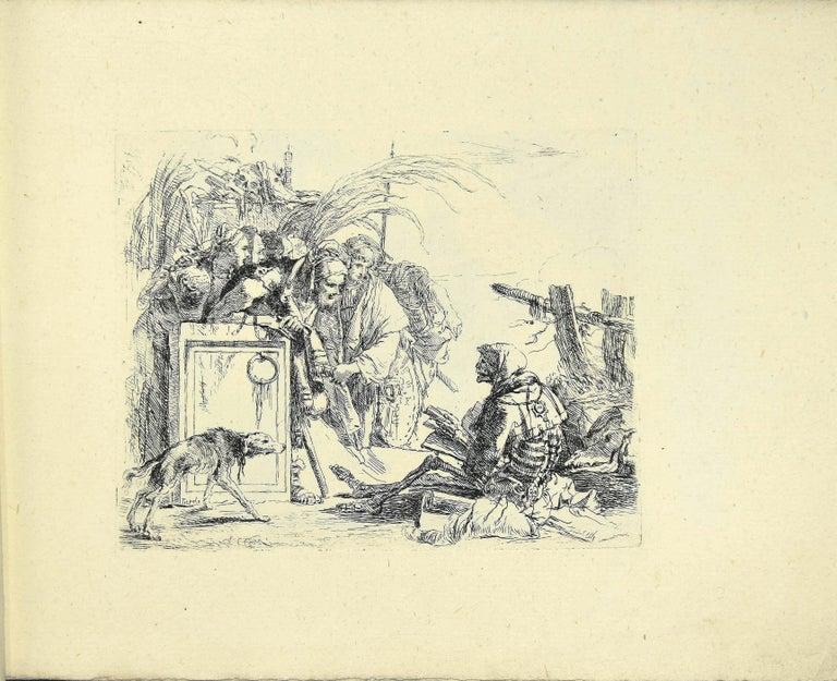 Giovanni Battista Tiepolo Figurative Print - Varj Capriccj - Rare Complete Collection of Etchings by G.B. Tiepolo - 1785